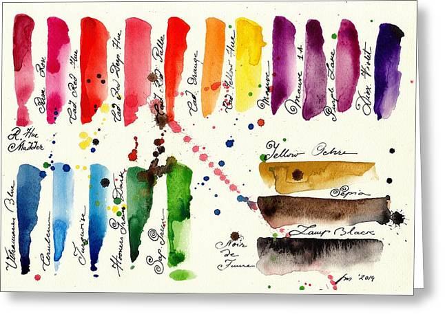 Palette Greeting Card by Tiberiu Soos