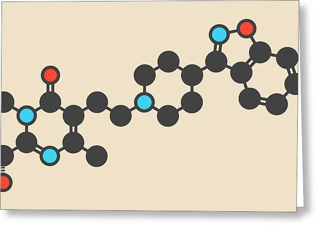 Paliperidone Antipsychotic Drug Molecule Greeting Card by Molekuul