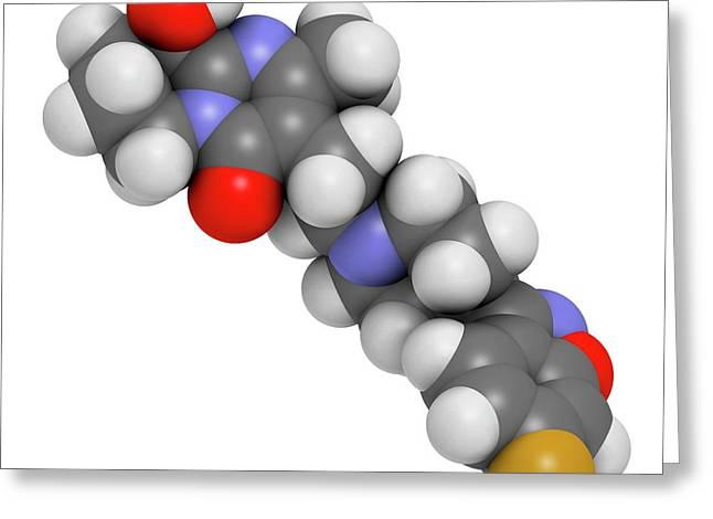 Paliperidone Drug Molecule Greeting Card by Molekuul