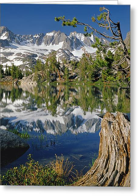 2m6443-v-palisade Peaks And Summit Lake V Greeting Card
