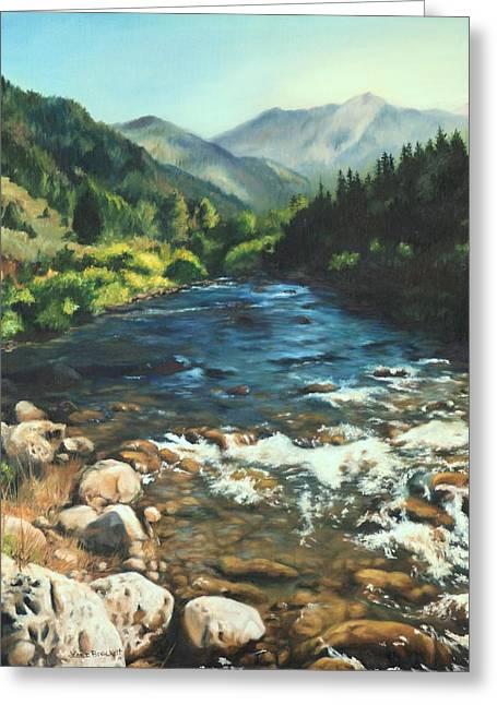 Palisades Creek  Greeting Card