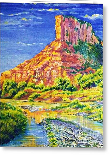 Palisiade At Gateway Colorado Greeting Card by Annie Gibbons