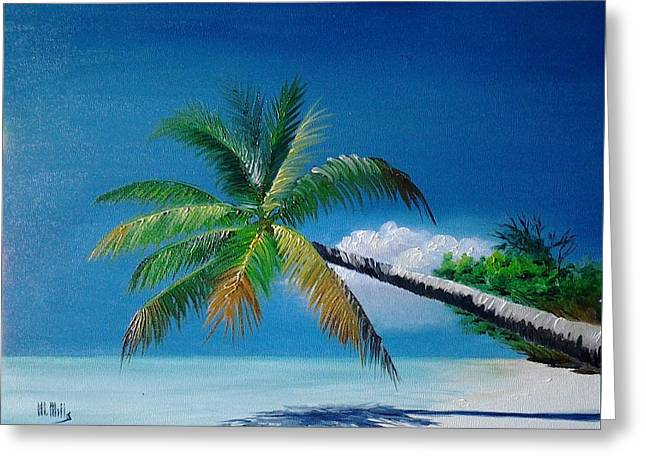 Palm And Shadow Greeting Card