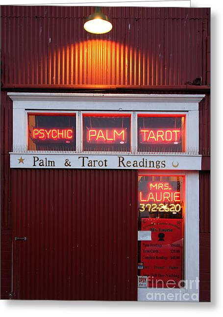 Palm And Tarot Readings On Monterey Cannery Row California 5d25166 Greeting Card