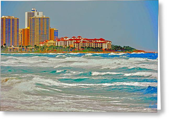Palm Beach Post Card Greeting Card