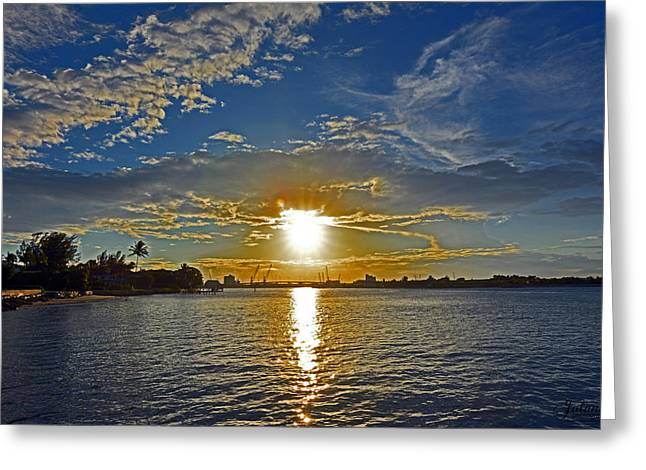 Palm Beach Sundown Greeting Card