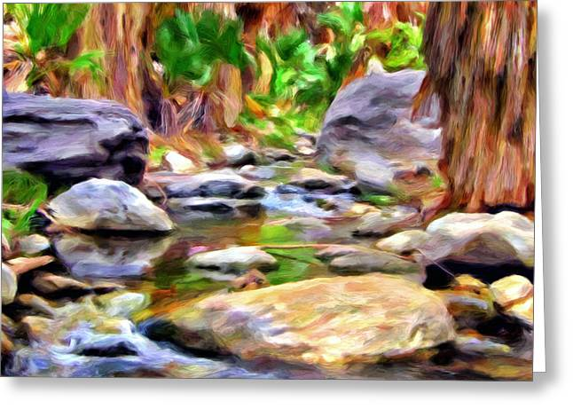 Palm Canyon Trail Greeting Card by Michael Pickett