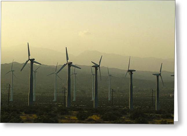 Palm Desert Wind Mills Greeting Card by Gregory Dyer