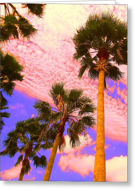 Palm In The Clouds Greeting Card
