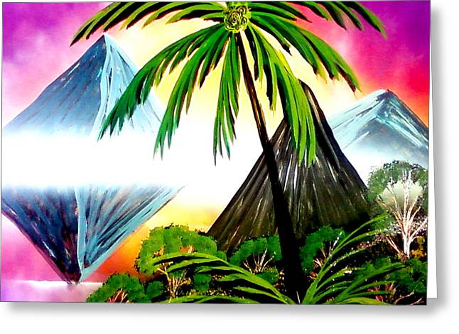 Palm Island Reflections Greeting Card by William  Dorsett