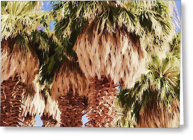 Greeting Card featuring the painting Palm by Muhie Kanawati