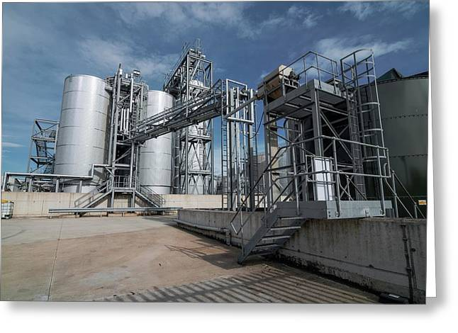 Palm Oil Refinery Greeting Card by Robert Brook