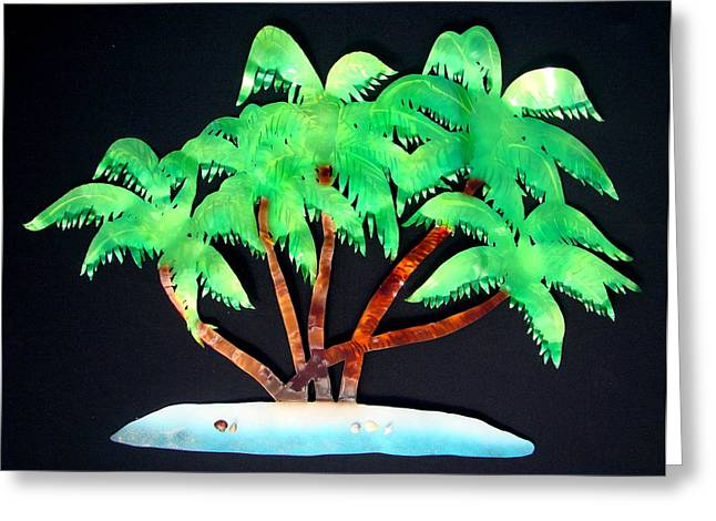 Palm Paradise Greeting Card by Diane Snider