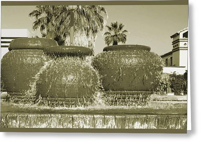 Palm Springs Fountain Greeting Card