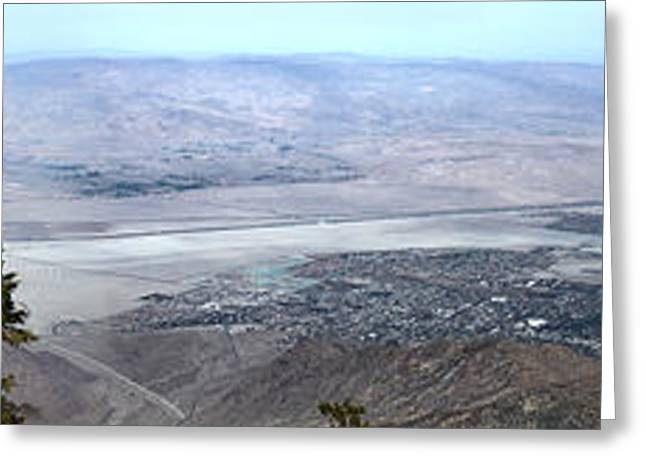 Palm Springs Panoramic View - 01 Greeting Card by Gregory Dyer