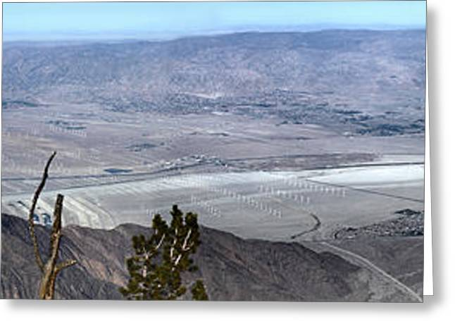 Palm Springs Panoramic View - 02 Greeting Card by Gregory Dyer