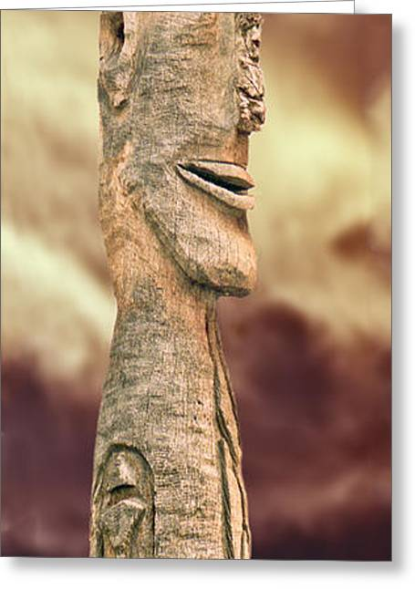 Palm Springs Tiki Greeting Card