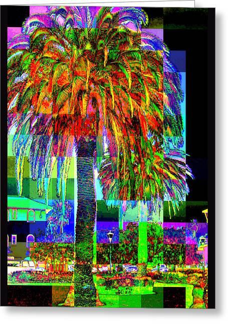 Palm Tree Greeting Card by Jodie Marie Anne Richardson Traugott          aka jm-ART