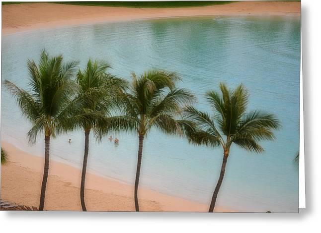 Palm Tree Lagoon Greeting Card