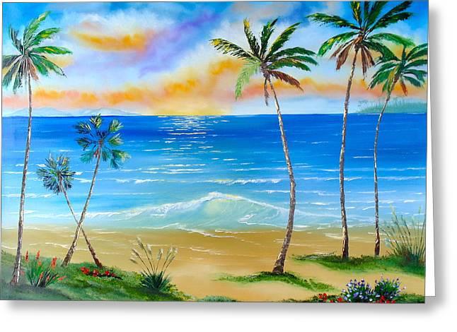 Palm Tree Paradise Greeting Card