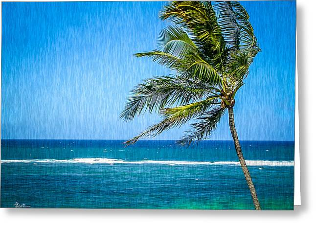 Palm Tree Swaying Greeting Card