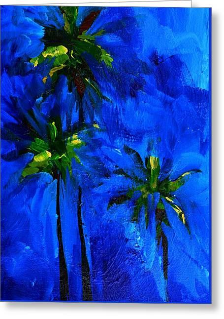 Palm Trees Abstract Greeting Card by Patricia Awapara