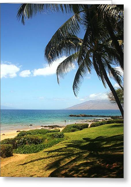 Palm Trees On A Maui Beach Greeting Card