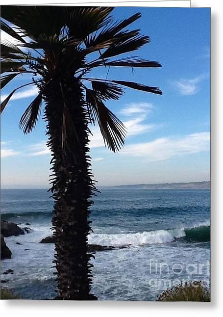 Greeting Card featuring the photograph Palm Waves by Susan Garren