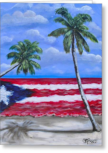 Palmas De Puerto Rico Greeting Card by Melissa Torres