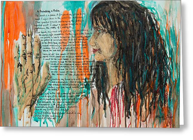 Palmistry A Psalm Greeting Card by Brenda Clews