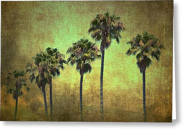 Palms 7 Greeting Card by Pamela Cooper