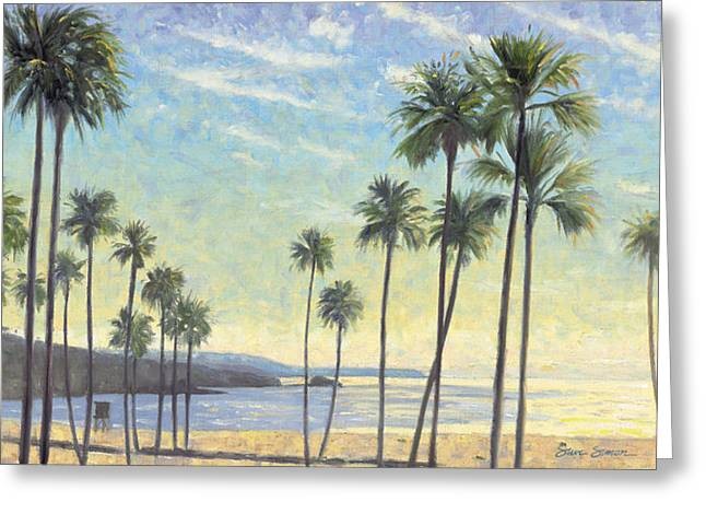 Palms Bursting In Air Greeting Card by Steve Simon