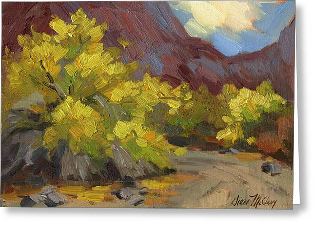 Palo Verde Trees Greeting Card by Diane McClary
