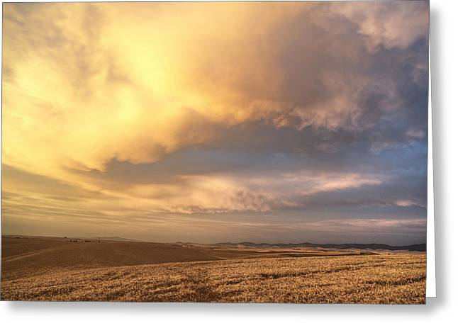 Palouse August Sunset Greeting Card