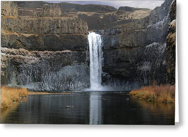 Greeting Card featuring the photograph Palouse Falls In The Winter by Farol Tomson