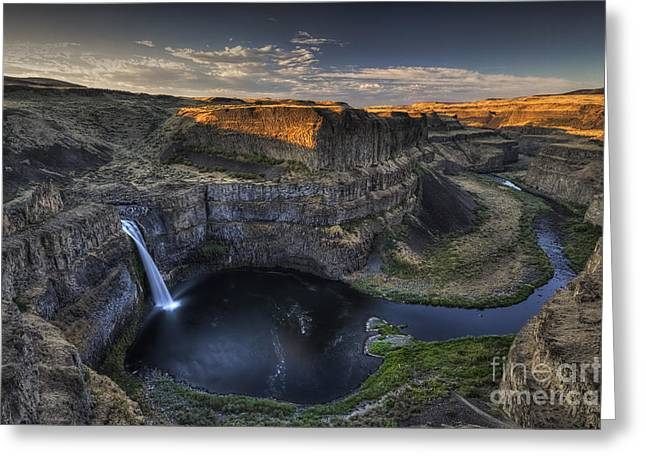 Palouse Falls Sunrise Greeting Card by Mark Kiver