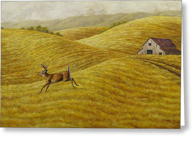 Palouse Farm Whitetail Deer Greeting Card
