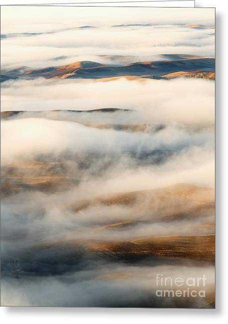 Palouse Fog Clears Greeting Card by Mike Dawson
