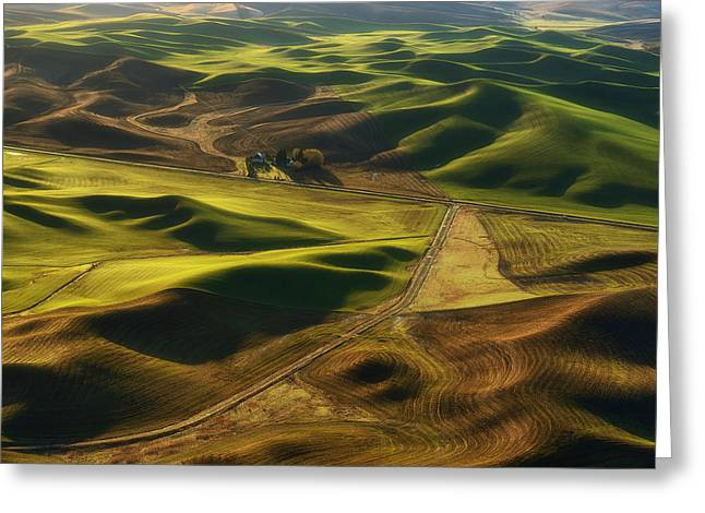Palouse Homestead Greeting Card by Ryan Manuel