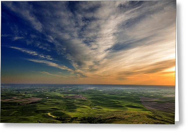 Palouse Sunset Greeting Card