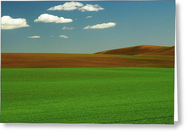Palouse View In Whitman County Greeting Card