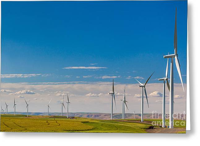 Palouse Wind Farm Greeting Card by Inge Johnsson