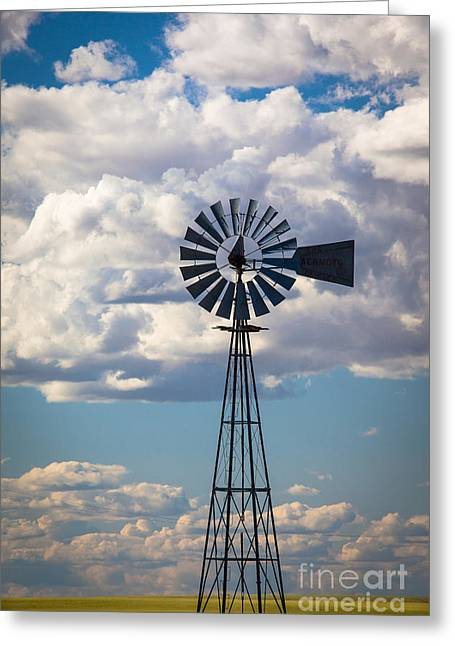 Palouse Windmill Greeting Card by Inge Johnsson