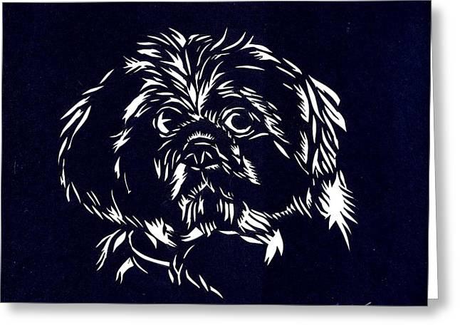 Pampered Dog Greeting Card by Alfred Ng