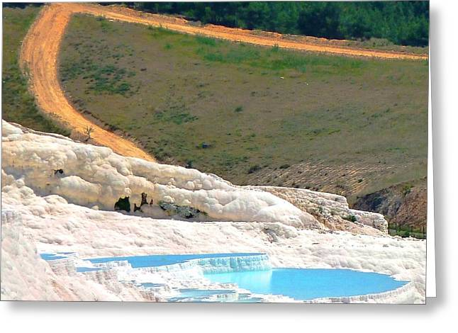 Greeting Card featuring the photograph Pamukkale by Julia Ivanovna Willhite