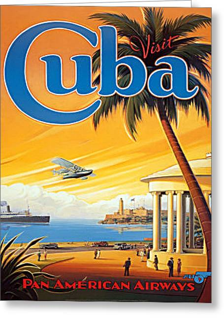 Pan Am Cuba  Greeting Card
