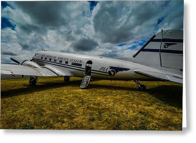 Pan American Airways Dc3 Greeting Card by Puget  Exposure