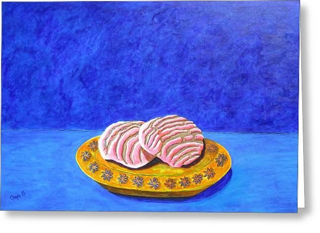 Pan Dulce Azul Greeting Card