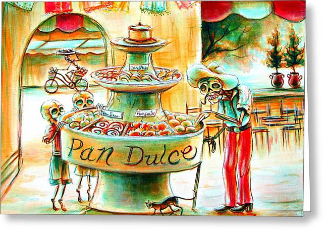 Pan Dulce Greeting Card by Heather Calderon
