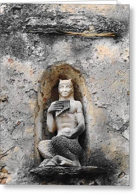 Pan In Bussana Vecchia Greeting Card
